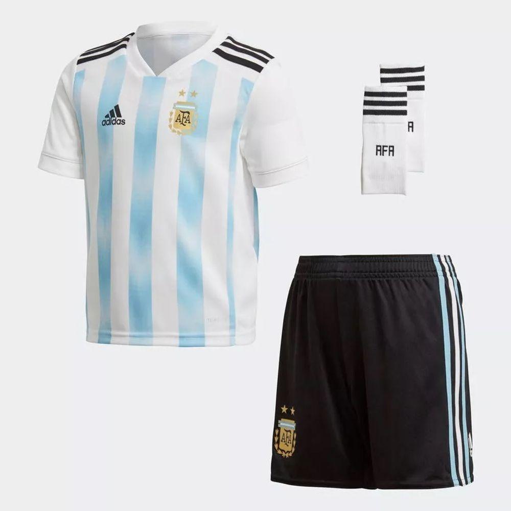 1b2f43c47 Camiseta adidas Argentina Negra Alternativa Mundial 2018 niños ...