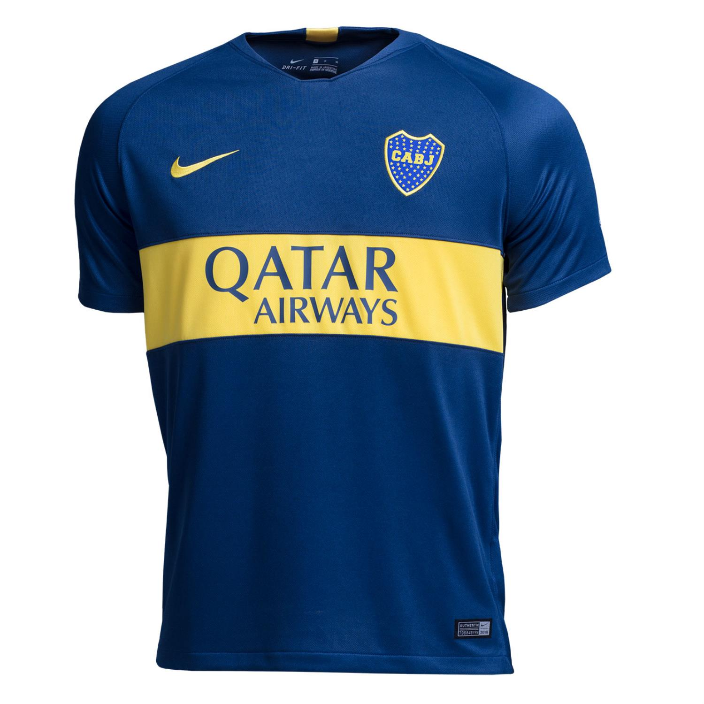 201819 Juniors Stadium Titular Boca Nike De Hombre Sporting Camiseta yvmN8n0wO