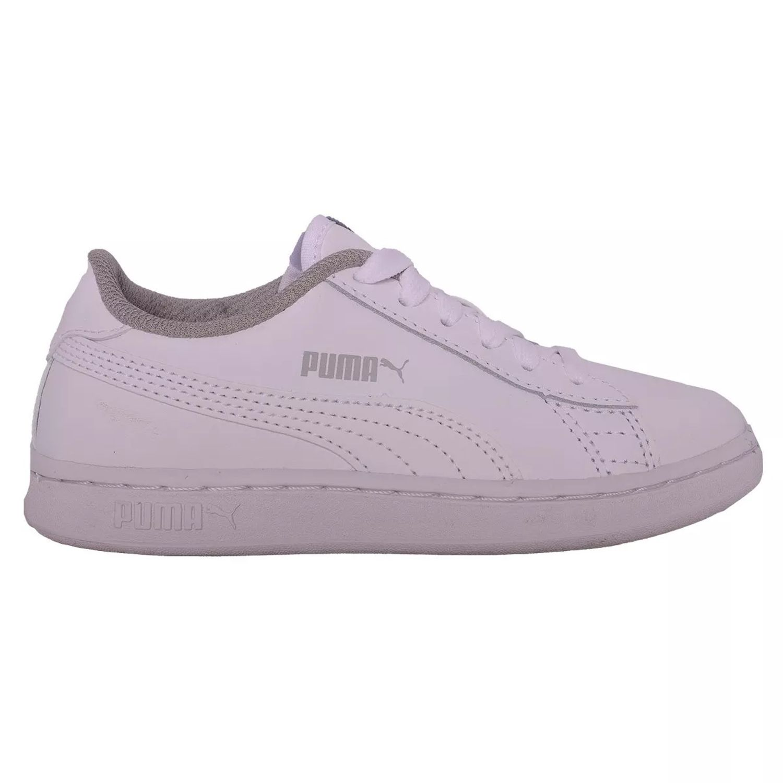 a227d00f Zapatillas Puma Smash V2 Infantil De Cuero Blancas - sporting