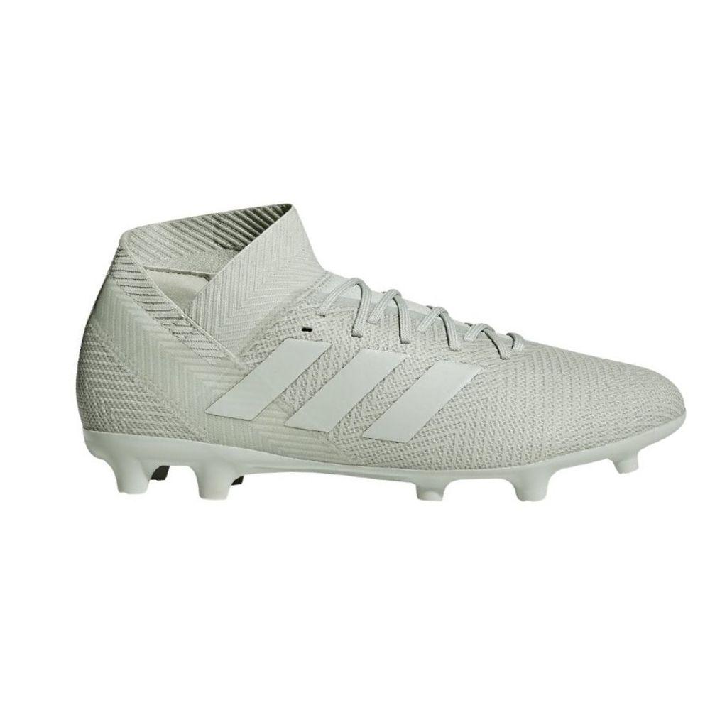 adidas-nemeziz-18-3-fg-silber-fussball-schuhe-nocken-rasen-kunstrasen-soccer-sportschuh-db2110