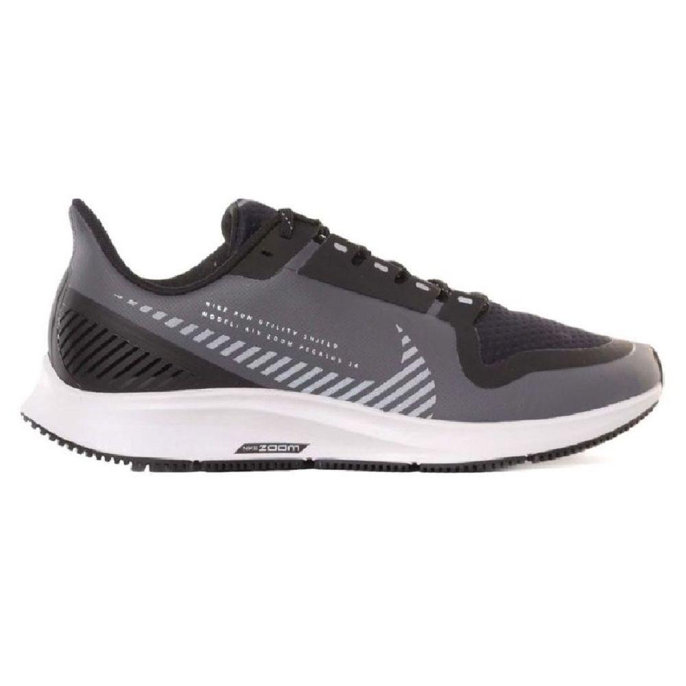 Zapatillas Nike Air Zoom Pegasus 36 Shield de Hombre Color: Negro - Talle: 39