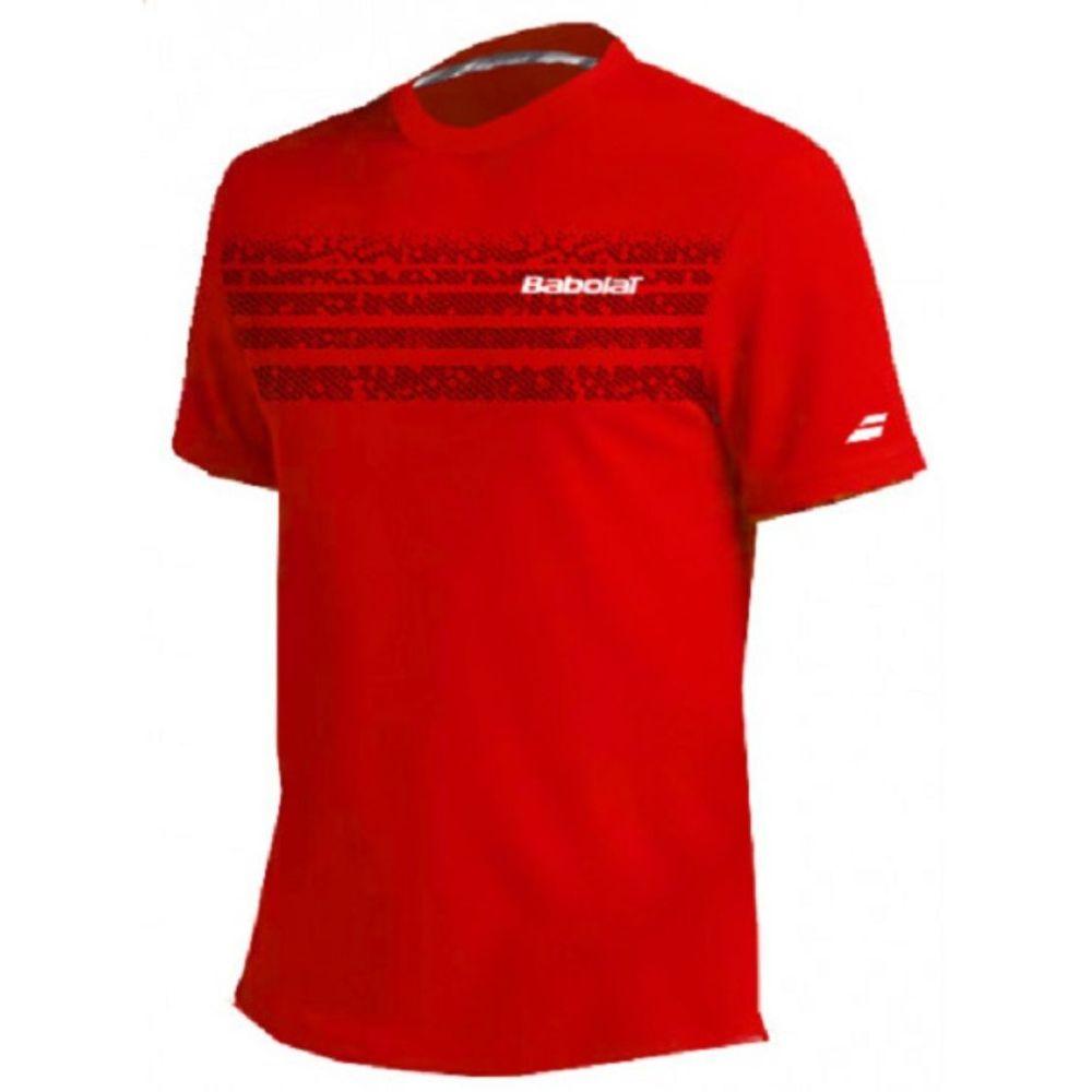 Remera Babolat Team Red de Hombre Color: Rojo - Talle: L
