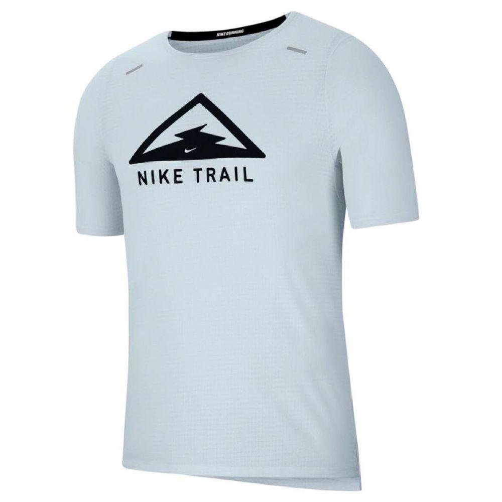 Remera Nike Rise 365 Trail de Hombre Color: Celeste - Talle: L