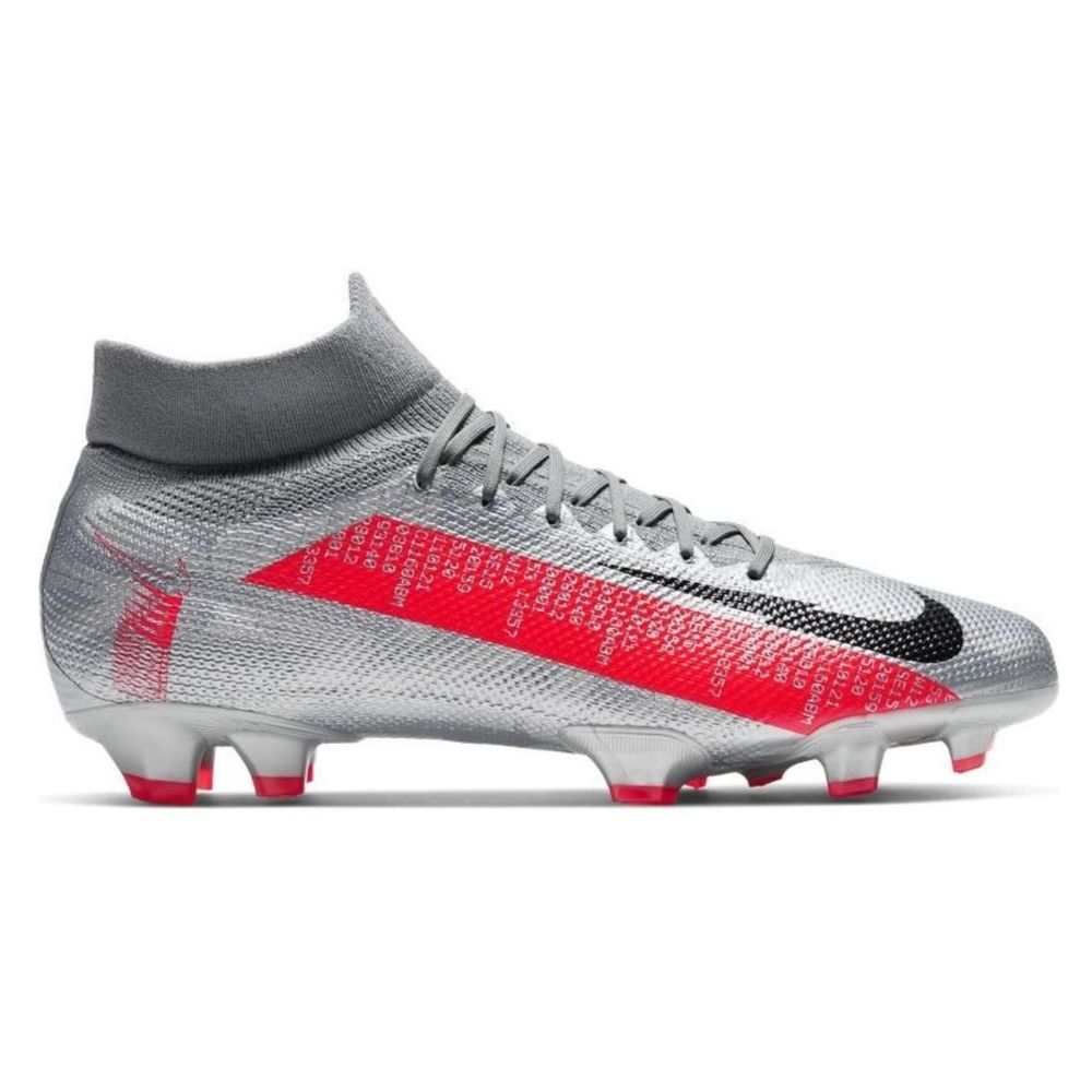 Botines Nike Mercurial Superfly 7 Pro FG De Hombre Color: Plateado - Talle: 39