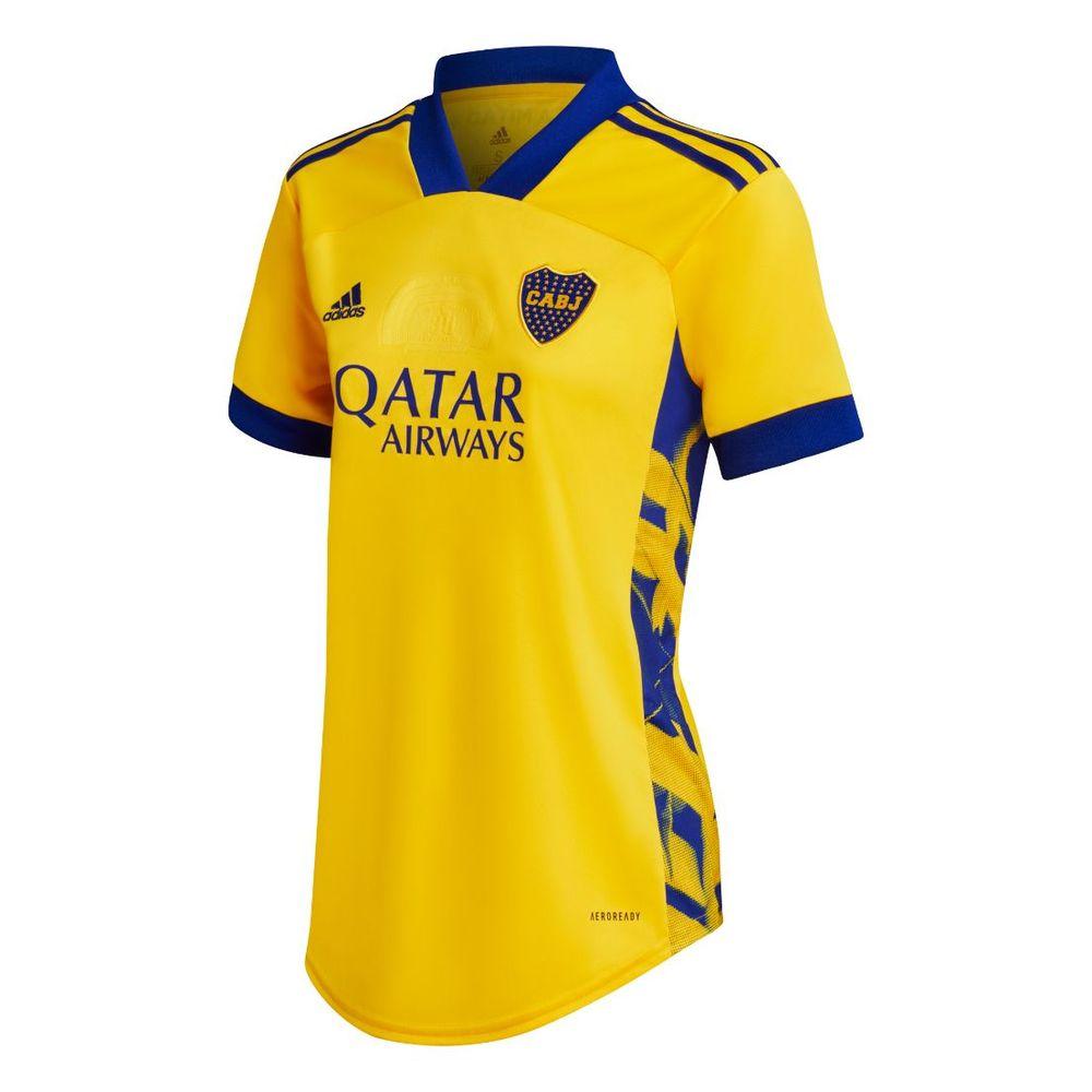 Camiseta adidas Alternativa 2 Boca Juniors 20/21 De Mujer Color: Amarillo - Talle: XS