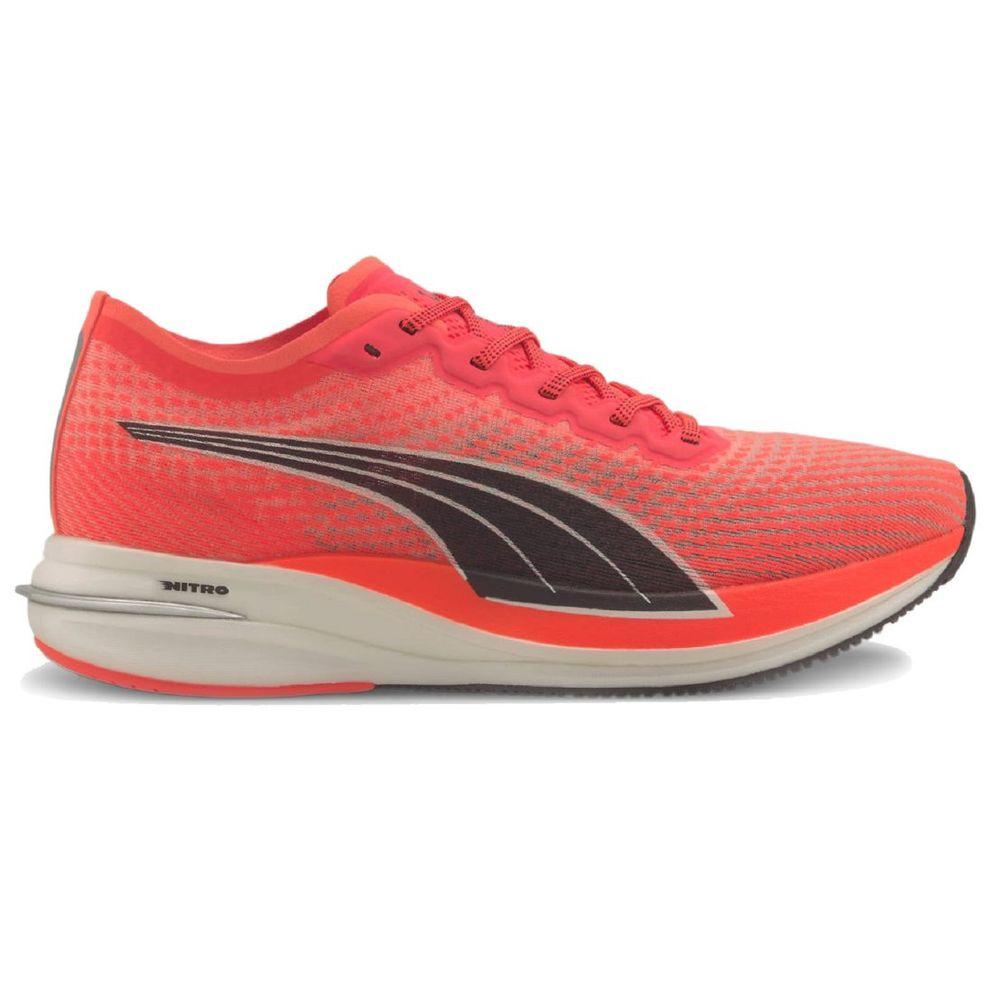 Zapatillas Puma Deviate Nitro De Hombre Color: Naranja - Talle: 43.5