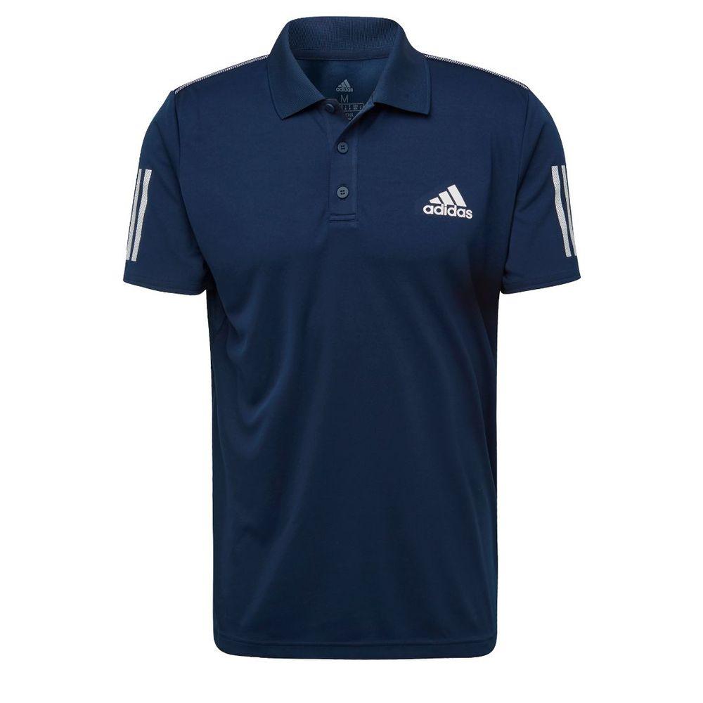 Chomba adidas 3 Tiras Club De Hombre Color: Azul - Talle: S