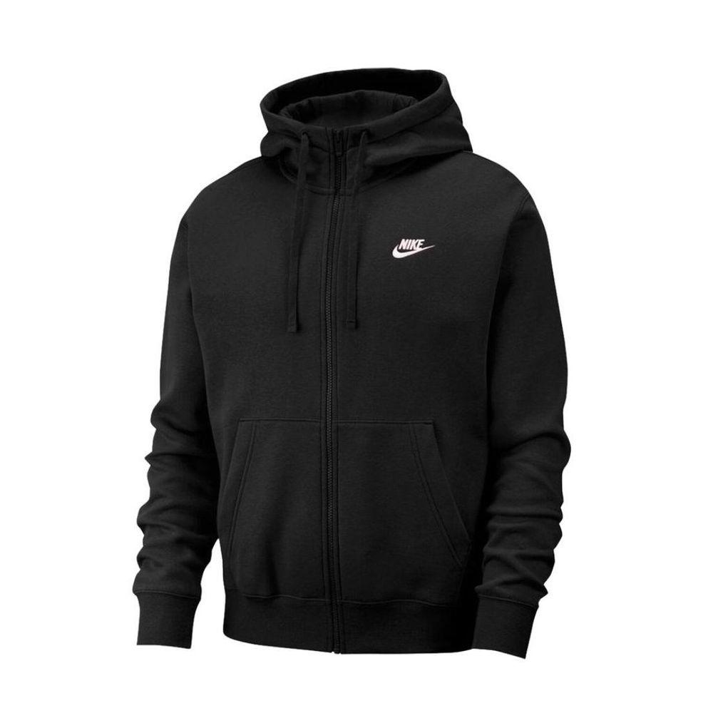Campera Nike Club FZ De Hombre Color: Negro - Talle: S