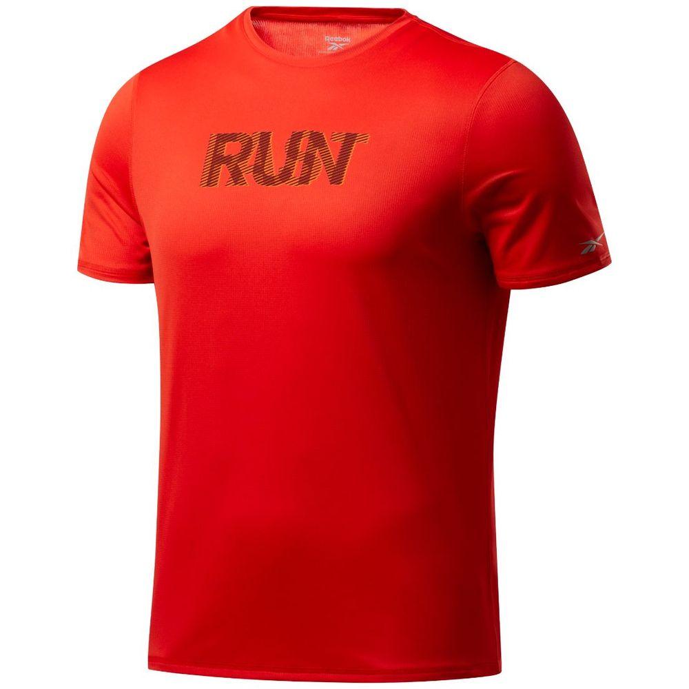 Remera Reebok Graphic Essential Run de Hombre Color: Rojo - Talle: L