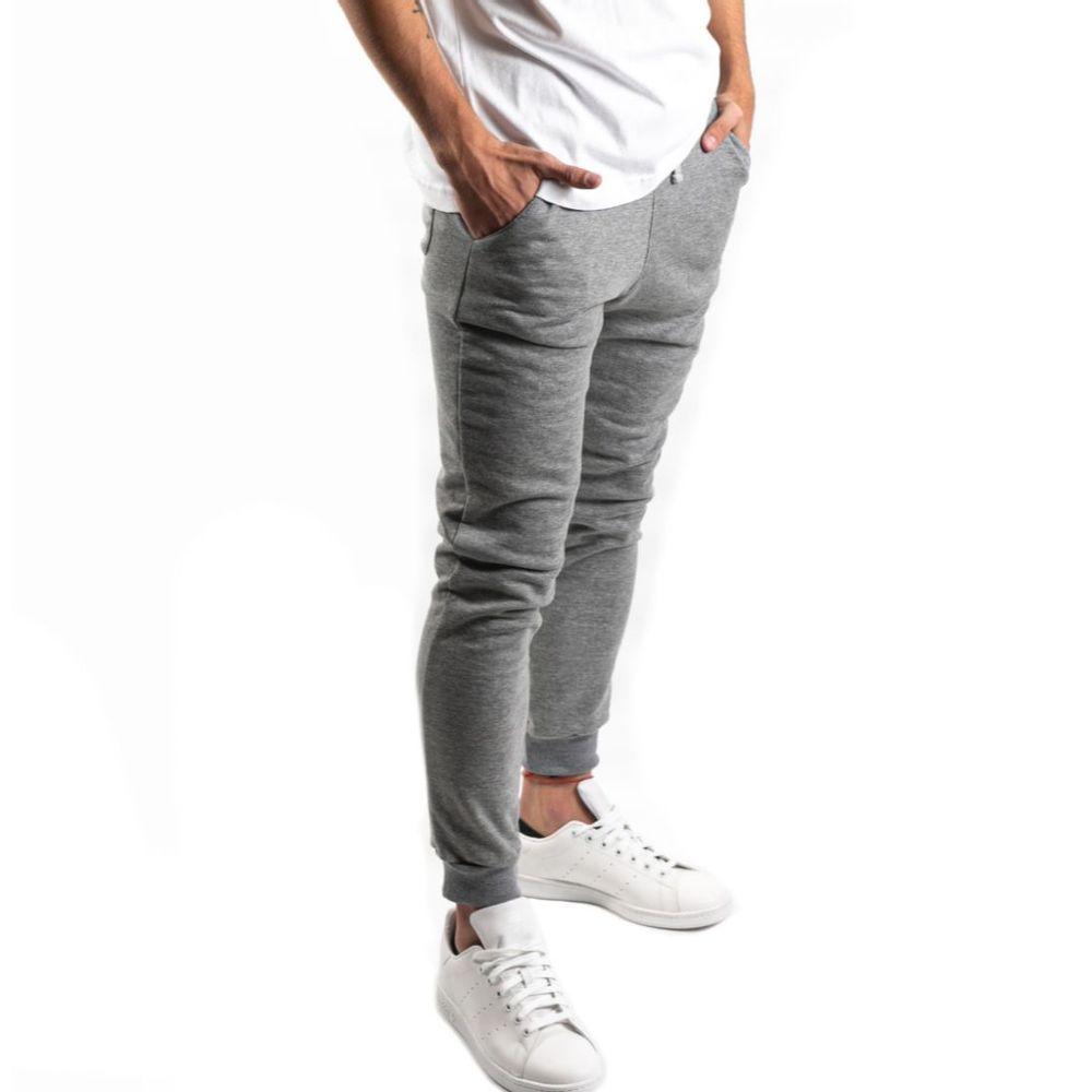 Pantalon Atlét Vintage Jogger De Hombre Color: Gris - Talle: M