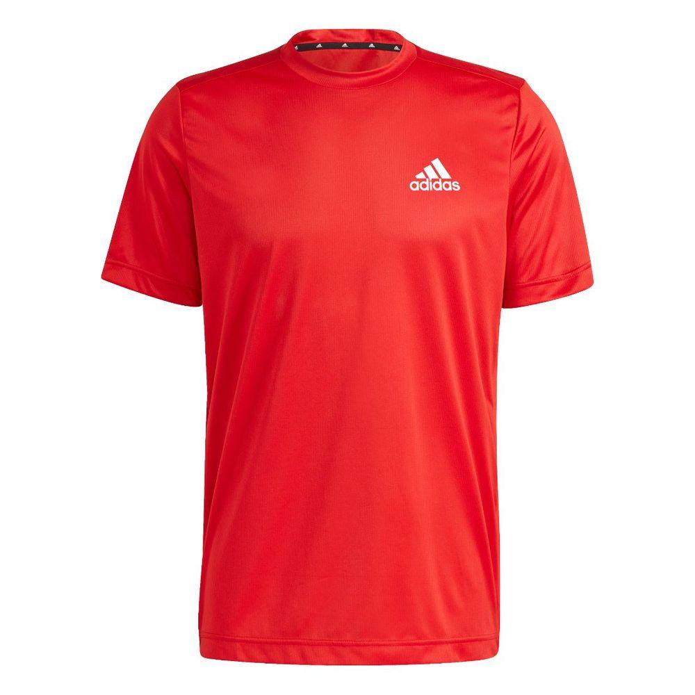 Remera adidas Aeroready Designed To Move De Hombre Color: Rojo - Talle: M