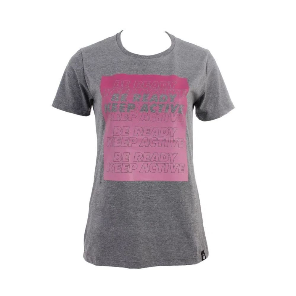 Remera Topper Keep Active De Mujer Color: Gris - Talle: S
